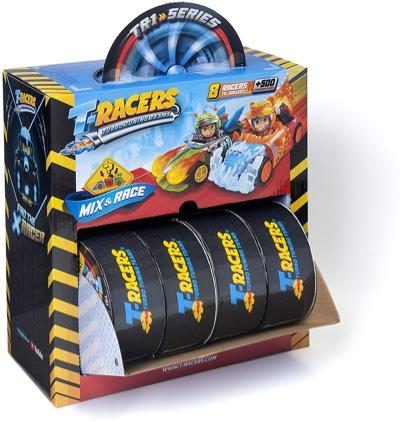 caja completa de t racers paquete de 8 T-wheels