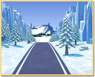 circuito turbo city montañas heladas