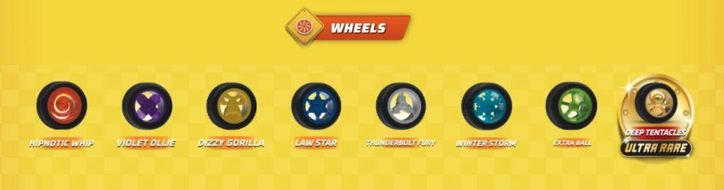 Juego de neumáticos y ruedas especial de cada piloto de la serie 2