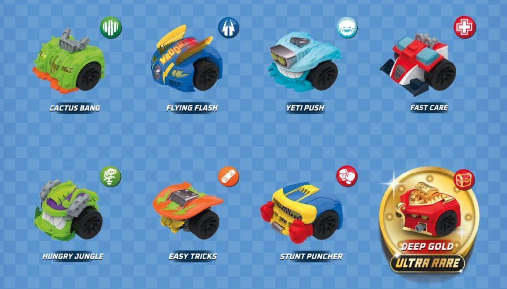 parte delantera coche t racers serie 2